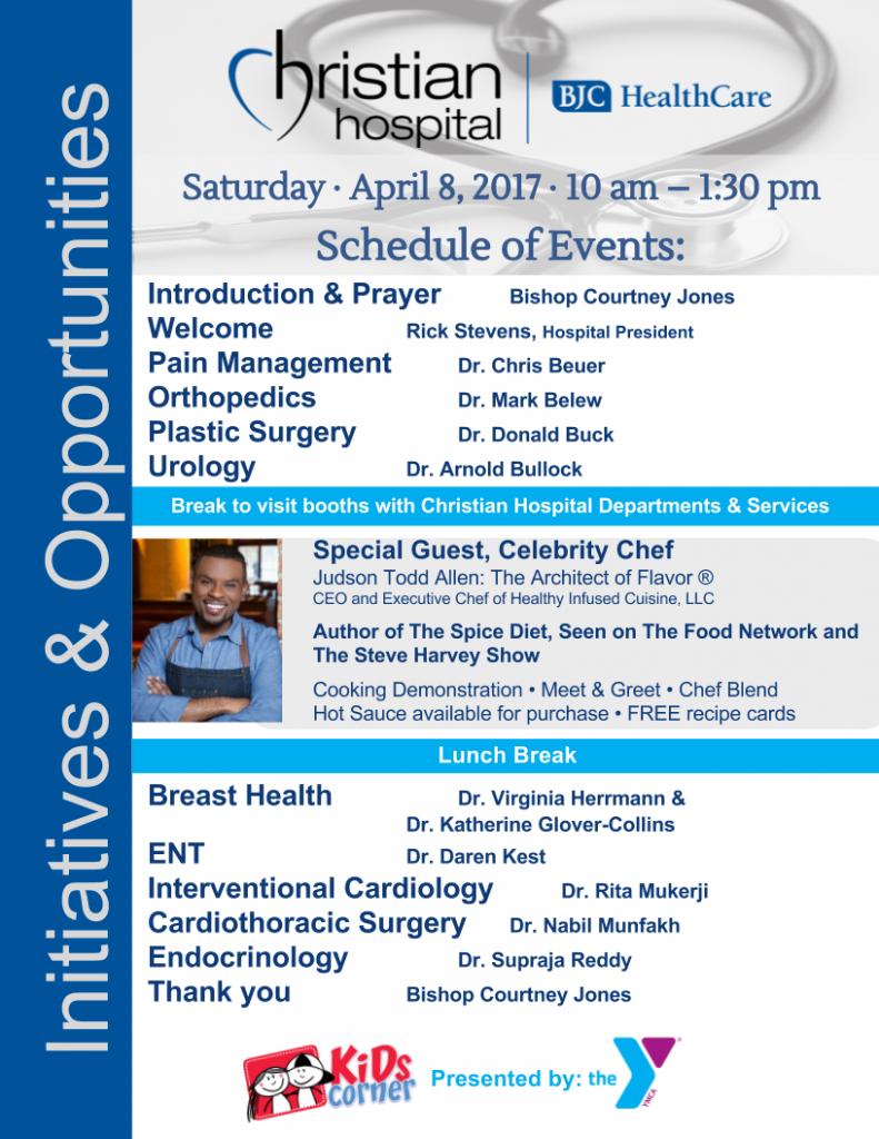 Christian Hospital's 4-8-17 Agenda